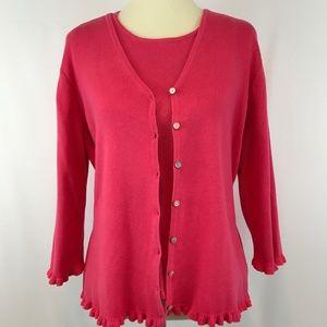 Karen Scott Pink Sweater Twinset